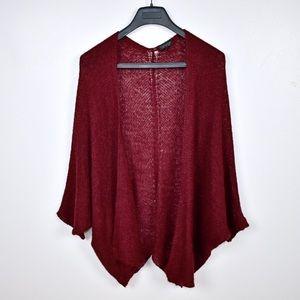 Topshop Wool Mohair Kimono Sleeve Cardigan